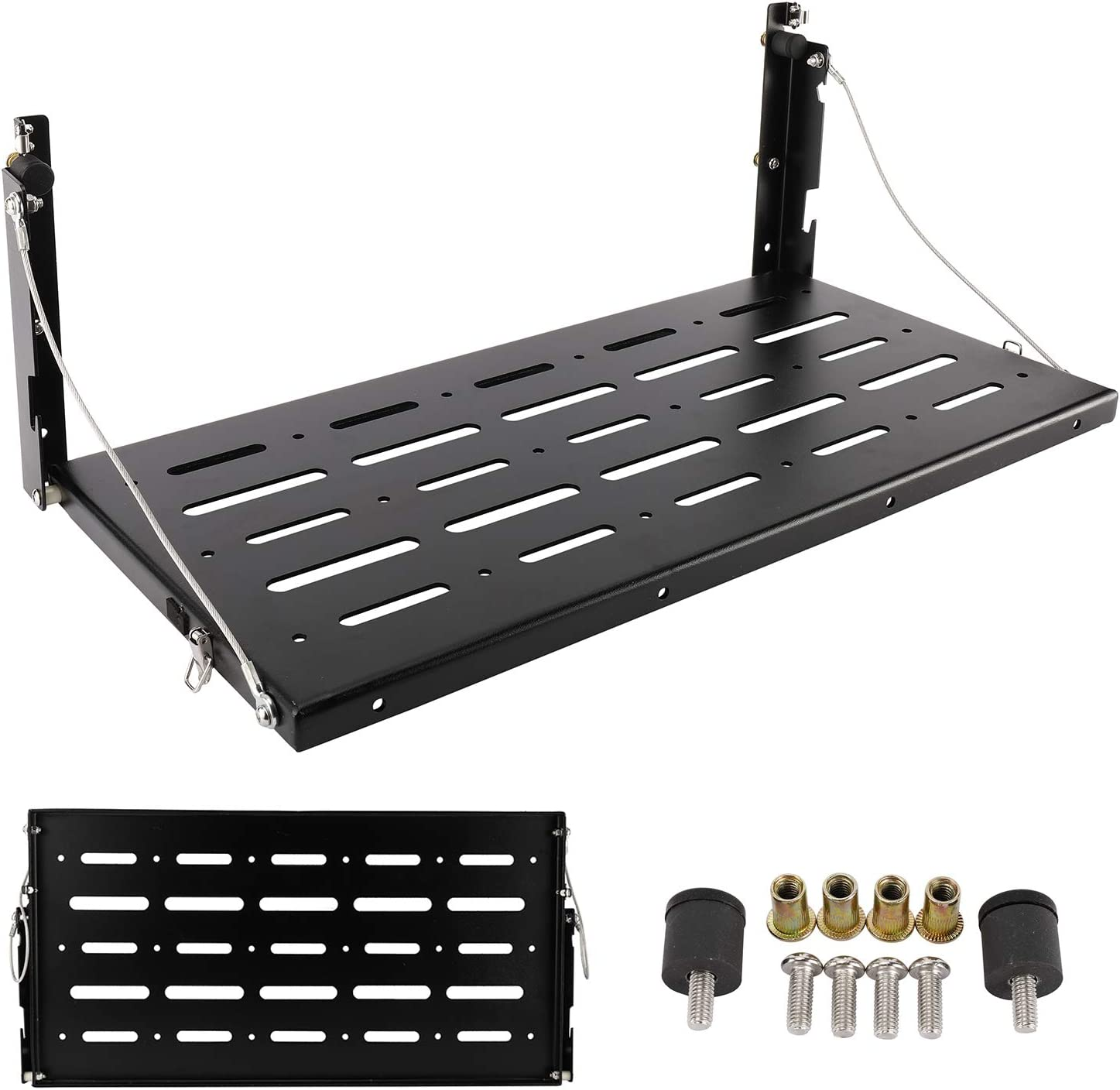 Rear Foldable Back Shelf fit for J-e-e-p Wrangler JK JKU 1996-2017 NiceDD Multi-Purpose Tailgate Table 75lbs//34kg Load Capacity