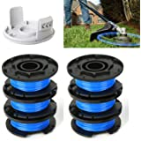 ConPus AC14RL3A String Trimmer Replacement Spool Line with 522994001 Cap for Ryobi One+ 24V, 18V, and 40V Cordless Trimmers,