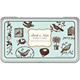 Cavallini & Co. Birds and Nests Designed Stamps Set Includes Wooden Rubber Stamps - Assorted/ Ink Pad - Black