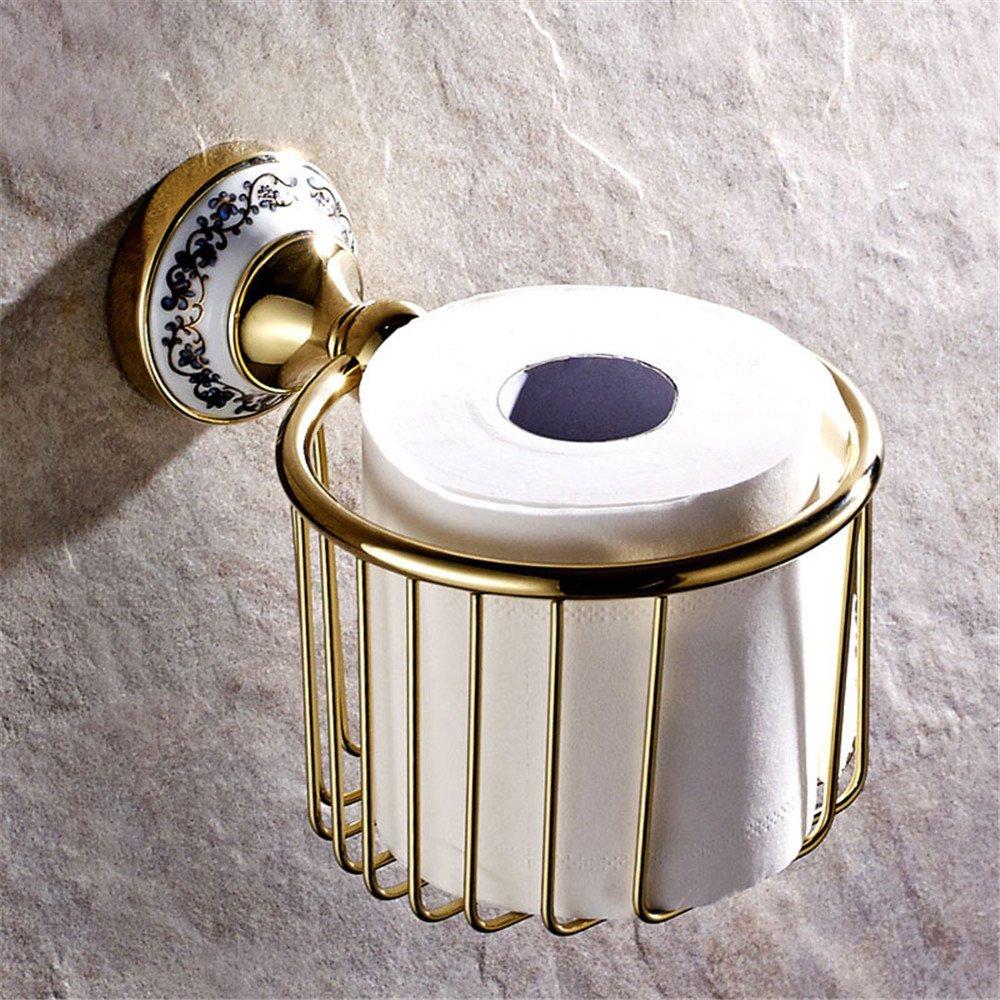increíbles descuentos FQRYP-Accesorios de baño Toallas de papel dorado de cobre cobre cobre cesta canasta colgante parojo el rollo rollo de toallas de papel de dibujo  selección larga