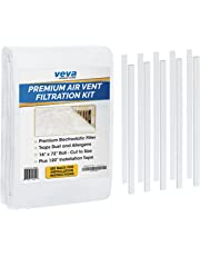 """Complete Premium Vent Register Filters Kit - 72"""" x 16"""" Electrostatic Media & 120"""" of Tape (30+ Filters per Roll) for HVAC, AC & Heating Intake Registers & Grilles to Reduce Dust and Allergy"""