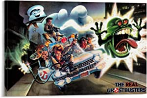 YuFeng Art Inn Modern Wall Poster Art Print Oil Painting on Canvas Home Decor Wall Decoration Canvas Art Ghostbusters Classic Movie Poster Decorative Painting Canvas Wall (Unframed-No Framed,24×36inch)