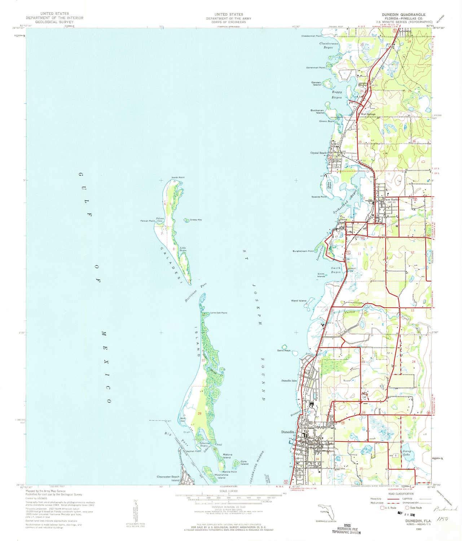 Dunedin Fl Map on