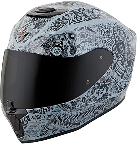 Scorpion EXO-R420 Full-Face Helmet Shake White Medium