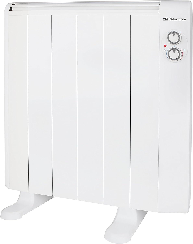 Orbegozo RRM 1010 – Emisor térmico sin aceite, 6 elementos, 1000 W, 2 niveles de potencia, color blanco