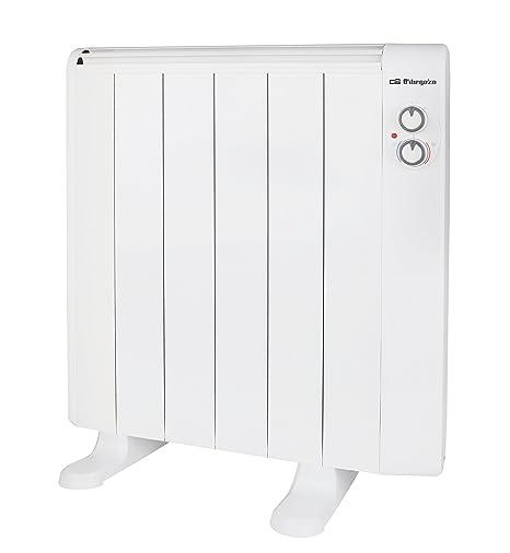 Orbegozo RRM 1010 - Emisor térmico sin aceite, 6 elementos, 1000 W, 2 niveles de potencia, color blanco: Amazon.es: Hogar