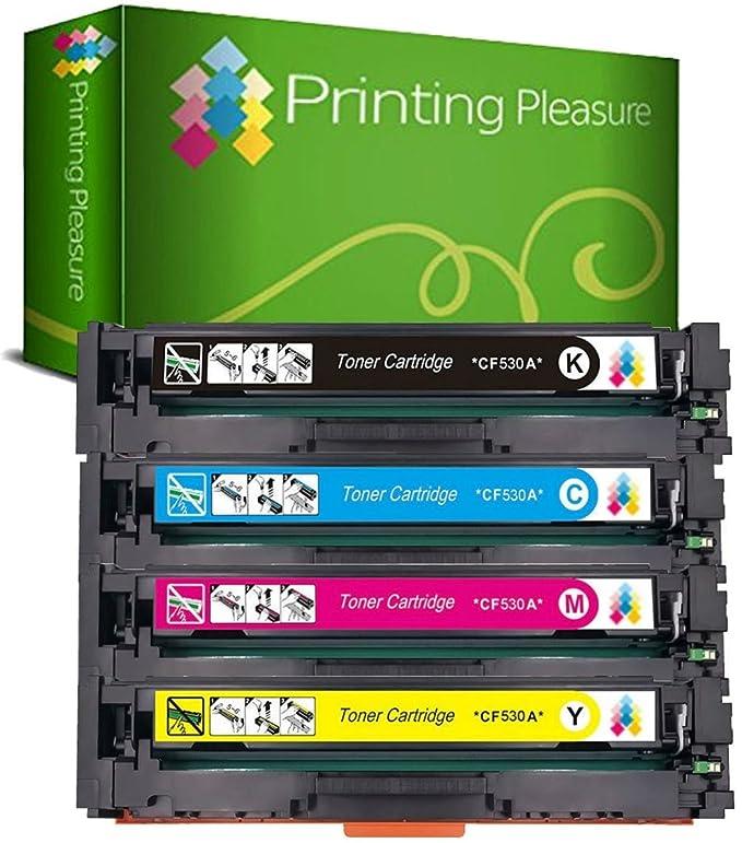 Printing Pleasure 4 Compatibles CF530A CF531A CF532A CF533A 205A ...