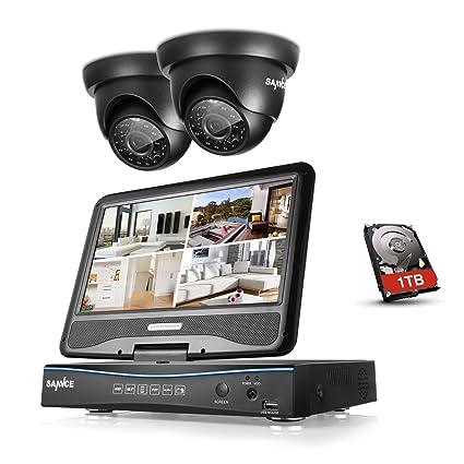 [1280*720P HD] SANNCE® Kit de 2 Cámaras de Vigilancia Seguridad (