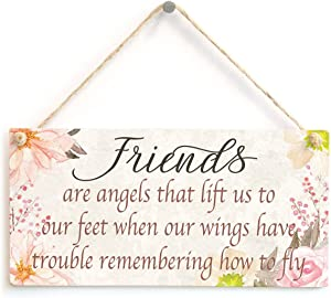 """Meijiafei Friends are Angels That Lift us to Our feet When Our Wings Have Trouble Remembering How to Fly - Special Meaningful Friendship Gift 10"""" X 5"""""""