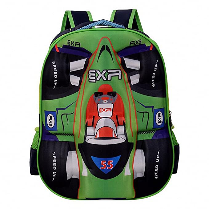 78f28477e1dc Amazon.com | Kid's Backpack--Racing Car Cool Shoolbag Backpack ...