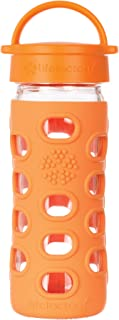 product image for Lifefactory 12-Ounce BPA-Free Glass Water Bottle with Leakproof Cap & Silicone Sleeve,Orange