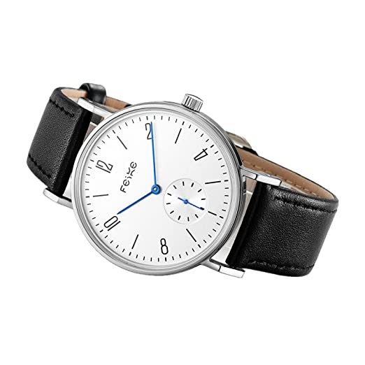 3596fe0adc6 FEICE Watch Automatic with Leather Strap Sapphire morrir Automatic Movement  Watch Classic Bauhaus Wrist Watch Automatic Mechanical for Man Women Ø 38mm  ...