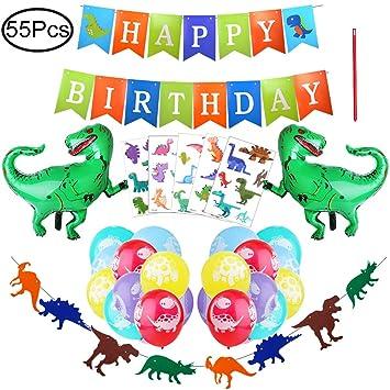 Defrsk 55 PCS Artículos de Fiesta para Dinosaurios Fiesta de ...