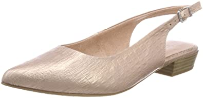 Womens 29403 Sling Back Sandals, Silver Tamaris