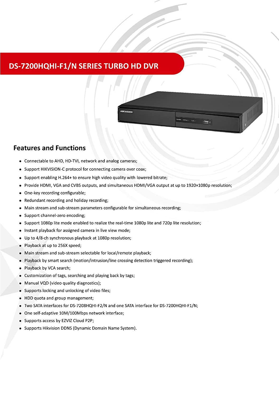 Hikvision DVR cámara grabadora de vídeo de 16 canales con WiFi HDMI P2P Turbo HD 1080P TVI AHD: Amazon.es: Bricolaje y herramientas