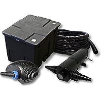 SunSun Filtro Estanque 12000L con 36W Clarificador y CTF bajo Consumo de Bomba con 20W 25m Tubo