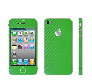 df8181f67ef iPHONE 4 verde adhesivo de fibra de carbono con tapa transparente para  marco adhesivo¡: Amazon.es: Electrónica