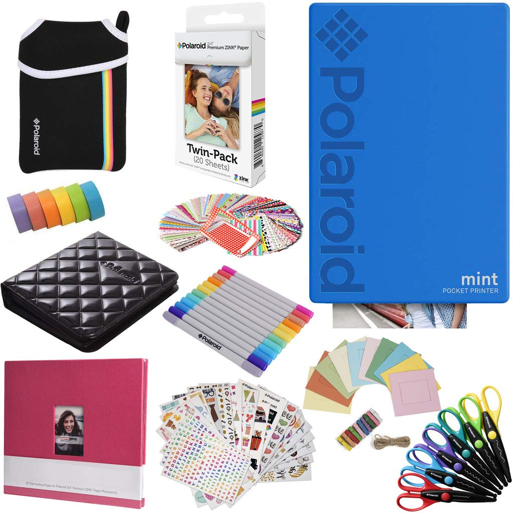 Polaroid Mint: Impresora instantánea (Azul) PAQ con Todo + ...