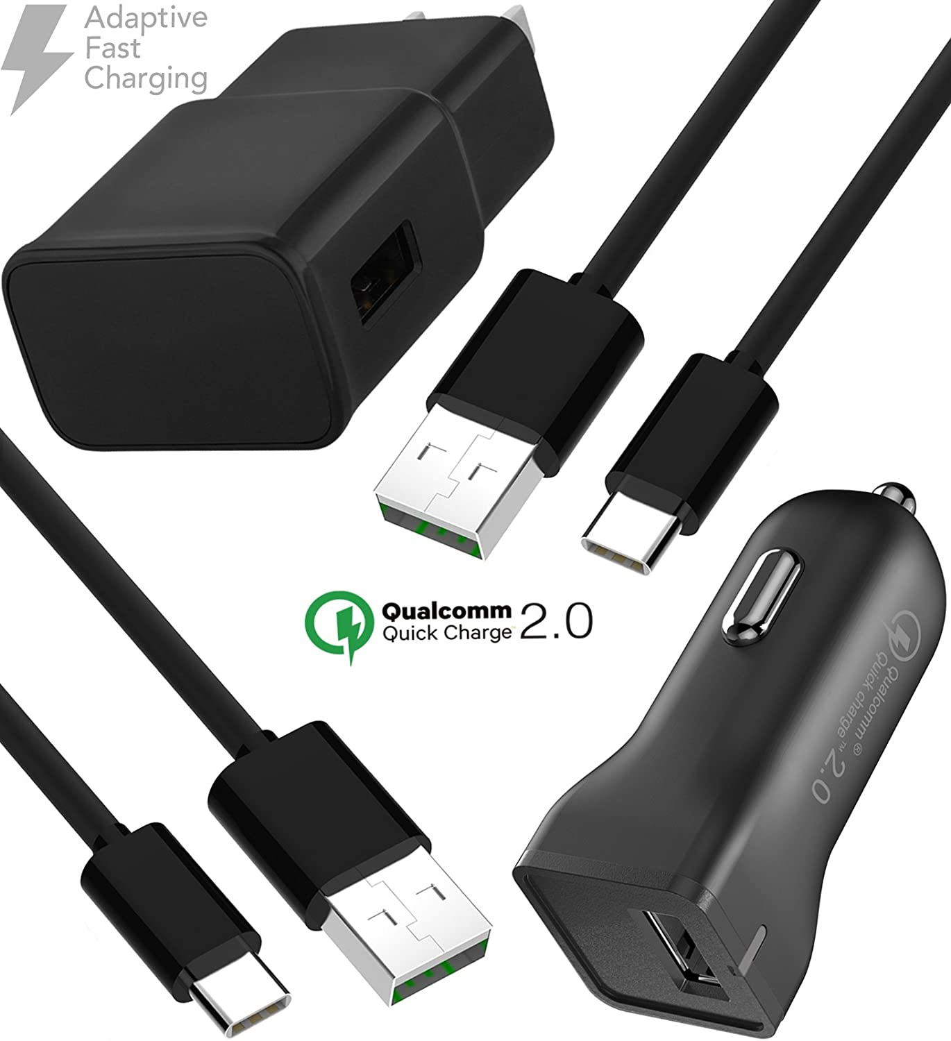 Official Samsung USB C Mini In Car Adaptive Fast Charger Black