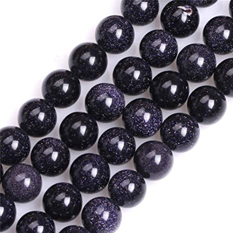 Blue Gold Stone or Blue Sand Stone Round beads Healing Gemstone Loose Beads DIY Jewelry Making Design for Bracelet AAA Quality  6mm 8mm 10mm