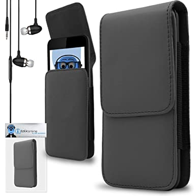 ... Pouch Case Cover Holster with Belt Loop Clip, Grey 3.5mm Aluminium In Ear Stereo Wired Headphones with Built in Mic Vodafone Smart Turbo 7: Cell Phones ...