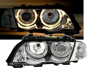 Ad Tuning Gmbh Co Kg 960552 Angel Eyes Fernscheinwerfer Set Klarglas Chrom Auto