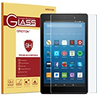 OMOTON Screen Protector for All-New Fire HD 8 (2018/2017/2016 Release), Tempered Glass/HD/ 9H Hardness
