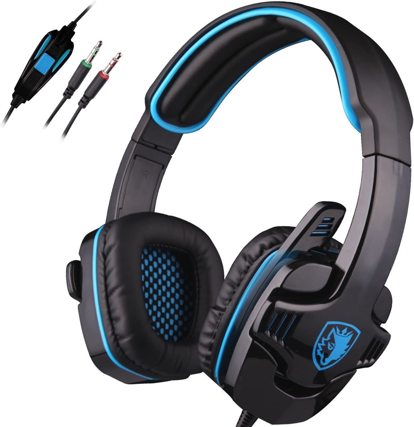 SADES SA708 3.5mm Stereo Gaming Headset Headset with Microphone Blue
