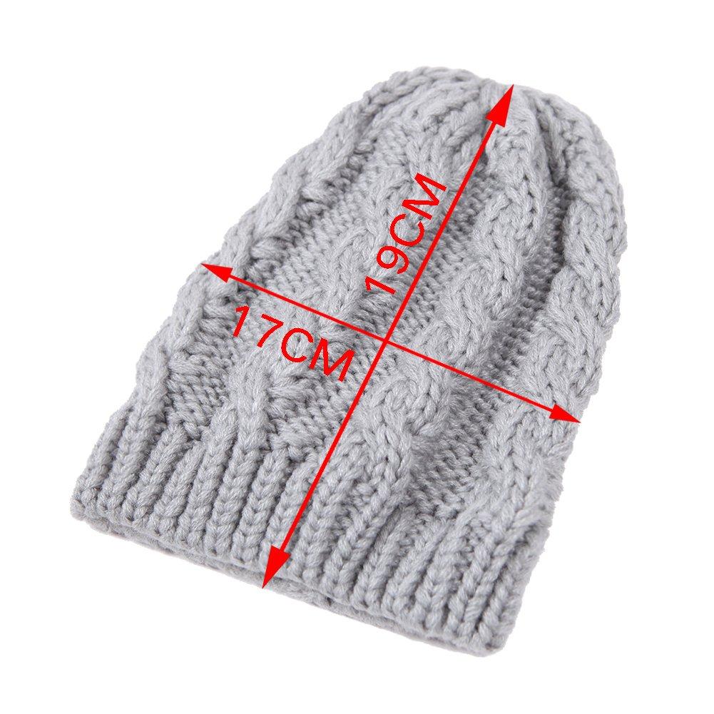 CHIC-CHIC Bonnet Tricot Souple Chaud Chapeau Nouveau né Coton ... 6620f82e372