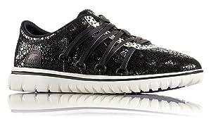Sorel Womens Tivoli Go Lux Sneaker, Black Stone (6)
