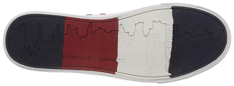 Tommy Hilfiger Herren Flag Detail Leather Turnschuhe    b31eda