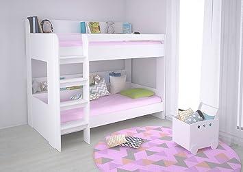 Kinderbett Etagenbett : Polini kids hochbett jugendbett kinderbett etagenbett weiß
