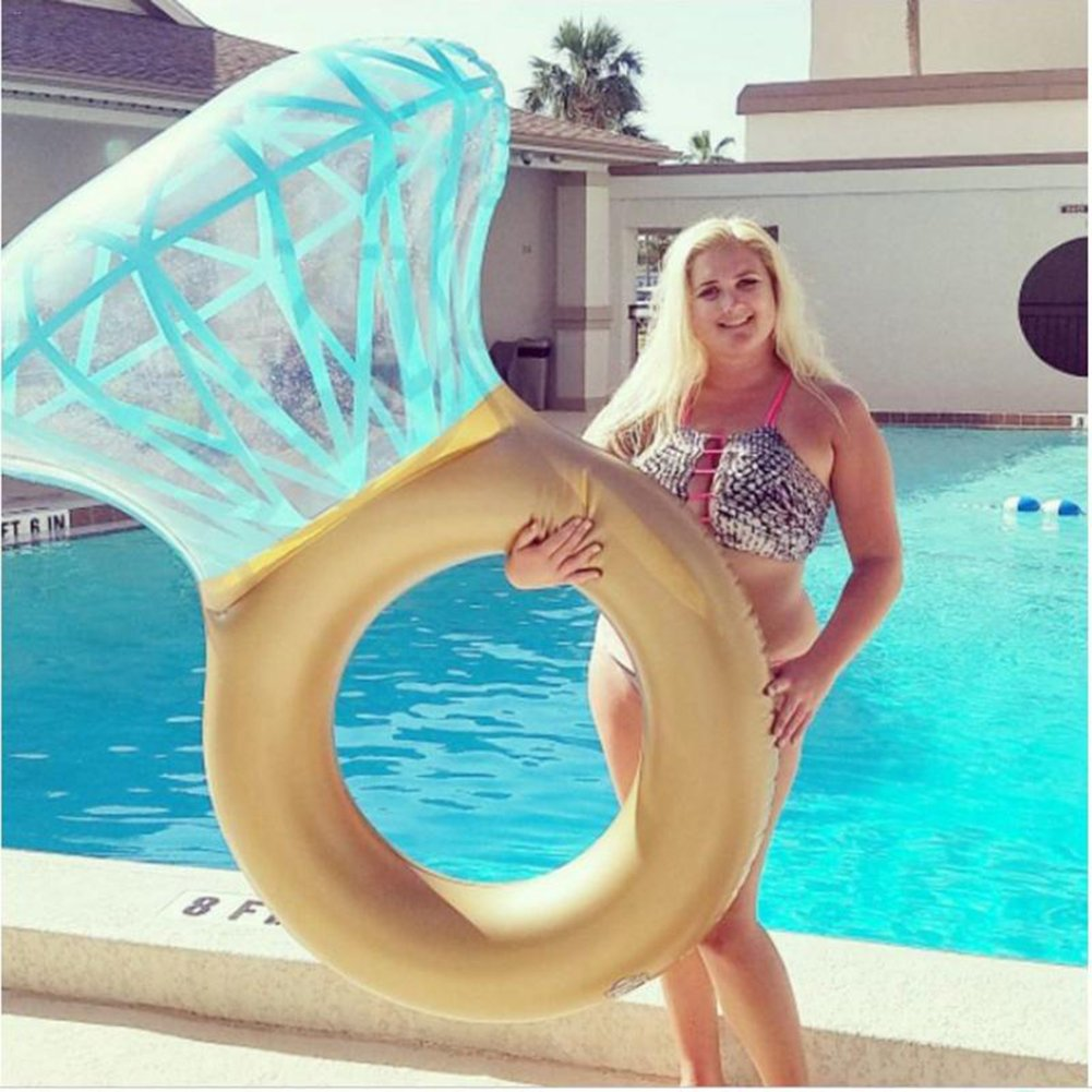 DMGF Inflatable Swimming Ring Pool Float Diamonds Rapid Valves Loungers Summer Water Sport Fun Raft Tube Outdoor Beach Party Toy For Adults Kids