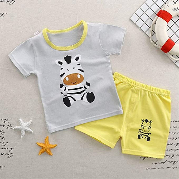 722e39e81 Amazon.com  Baby Boy Clothes Summer Newborn Baby Boys Clothes Set ...