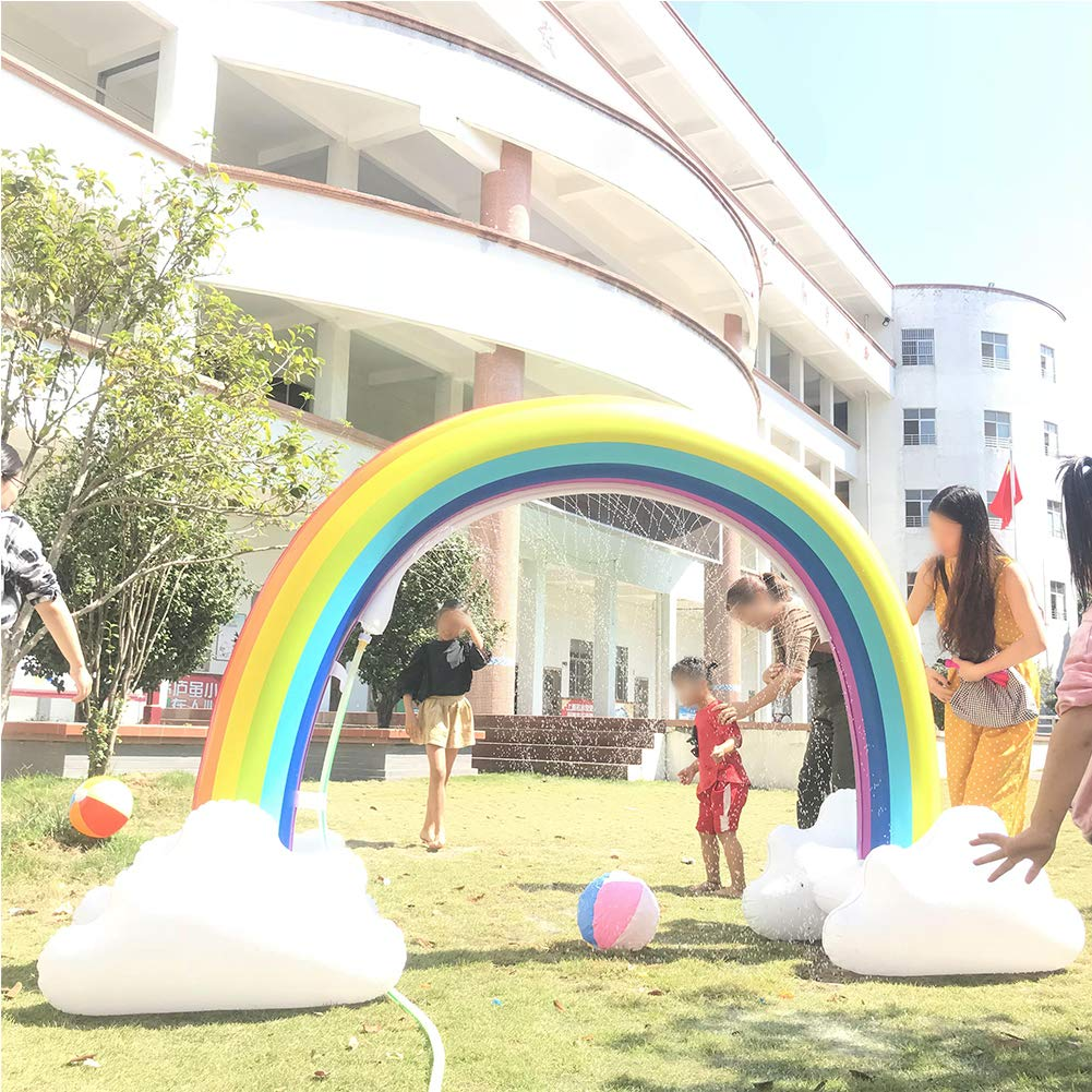 ONEPACK Inflatable Sprinkler Giant Inflatable Archway Outdoor Water Toys Fun for Kids,Toddlers and Babies by ONEPACK (Image #2)