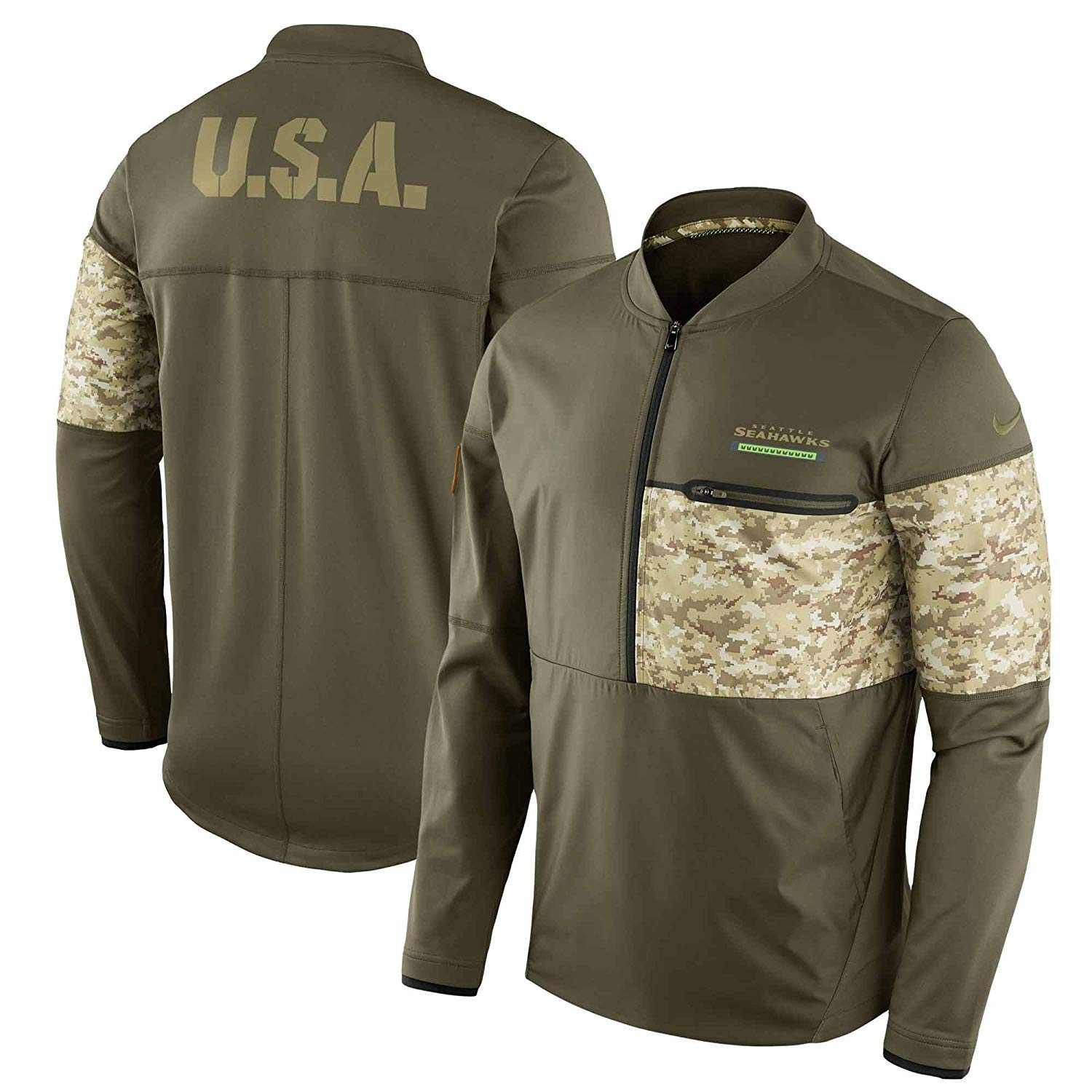 the best attitude 7028b f03b8 Amazon.com: Nike Seattle Seahawks Hybrid Salute To Service ...
