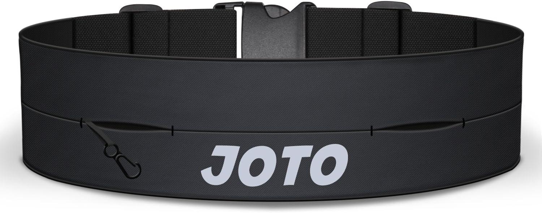 JOTO Running Belt Exercise Runner Belt, Sport Waist Pack for iPhone 11 Pro Max XS MAX XS XR X 8 7 Galaxy S10 Note10 , Flip Running Belt for Men Women Workouts Cycling Hiking Walking Fitness Black