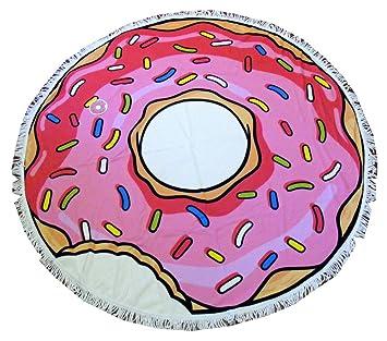 Boutiques du Monde 0121861 toalla playa Young Donuts, 100% algodón, multicolor, 150 x 150 x 1 cm: Amazon.es: Hogar