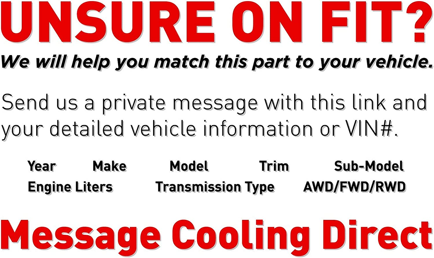 Cooling Direct For//Fit GM3115238 10-16 Buick La Crosse 10-17 Regal 13-17 Cadillac XTS 14-17 Impala 3.6L Dual Radiator and Condenser Fan Assembly