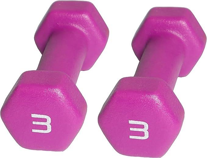 CAP Hex Neoprene Dumbbells 3 lb Weights Pair Set 6 lbs Total Pink NEW