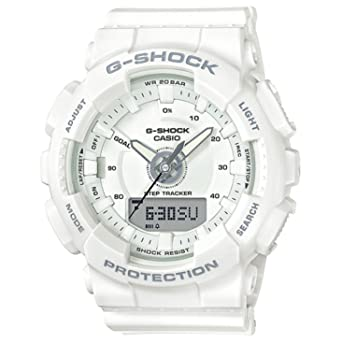 c9f48d310c91 Image Unavailable. Image not available for. Color  Ladies  Casio G-Shock  S-Series White Step Tracker Watch ...