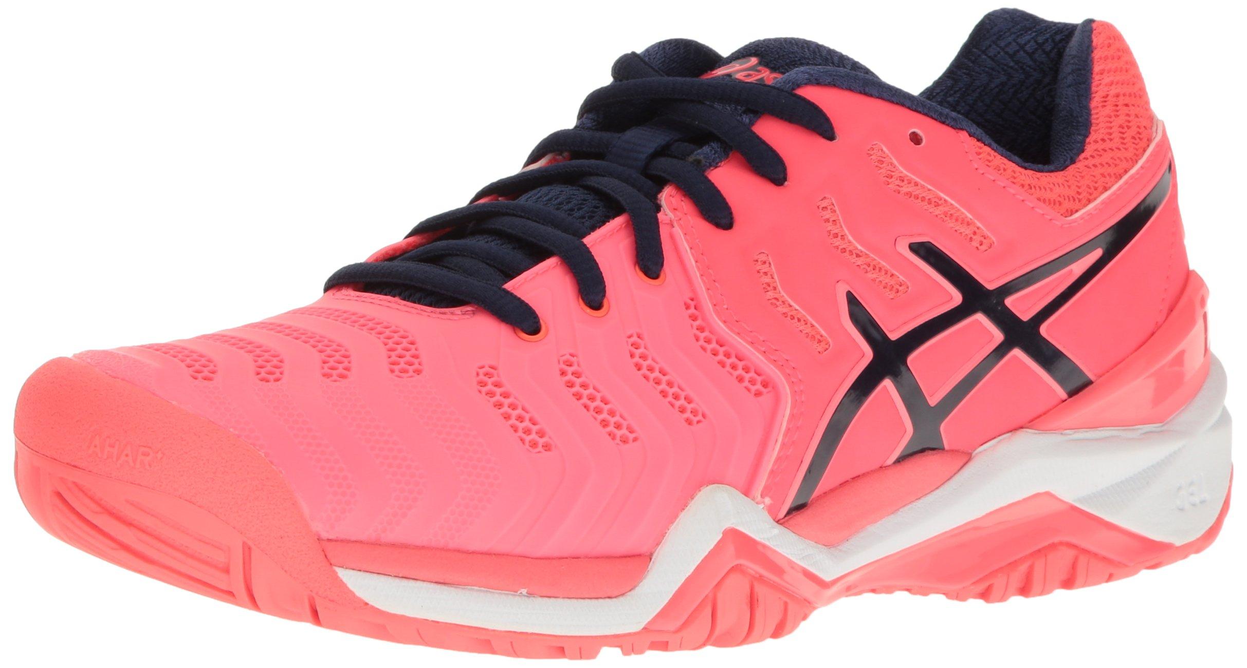 ASICS Women's Gel-Resolution 7 Tennis Shoe, Diva Pink/Indigo Blue/White, 5 M US