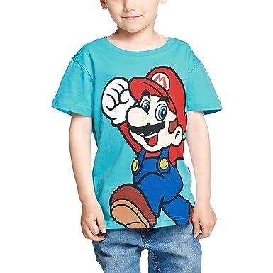 5ec553f617c Super Mario Kids T-Shirt Nintendo Cotton Blue - 110 116  Amazon.co.uk   Clothing