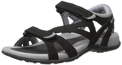Hi-Tec Women's Galicia Strap Sandal, Black/Grey,5 ...
