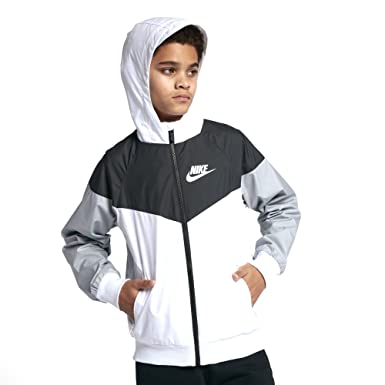 50% off brand new size 40 Amazon.com: Nike Sportswear Windrunner Big Boys Jacket White ...