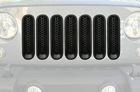 New Upgrade Clip In Version Matte Black Front Grill Mesh Grille Inserts Kit For