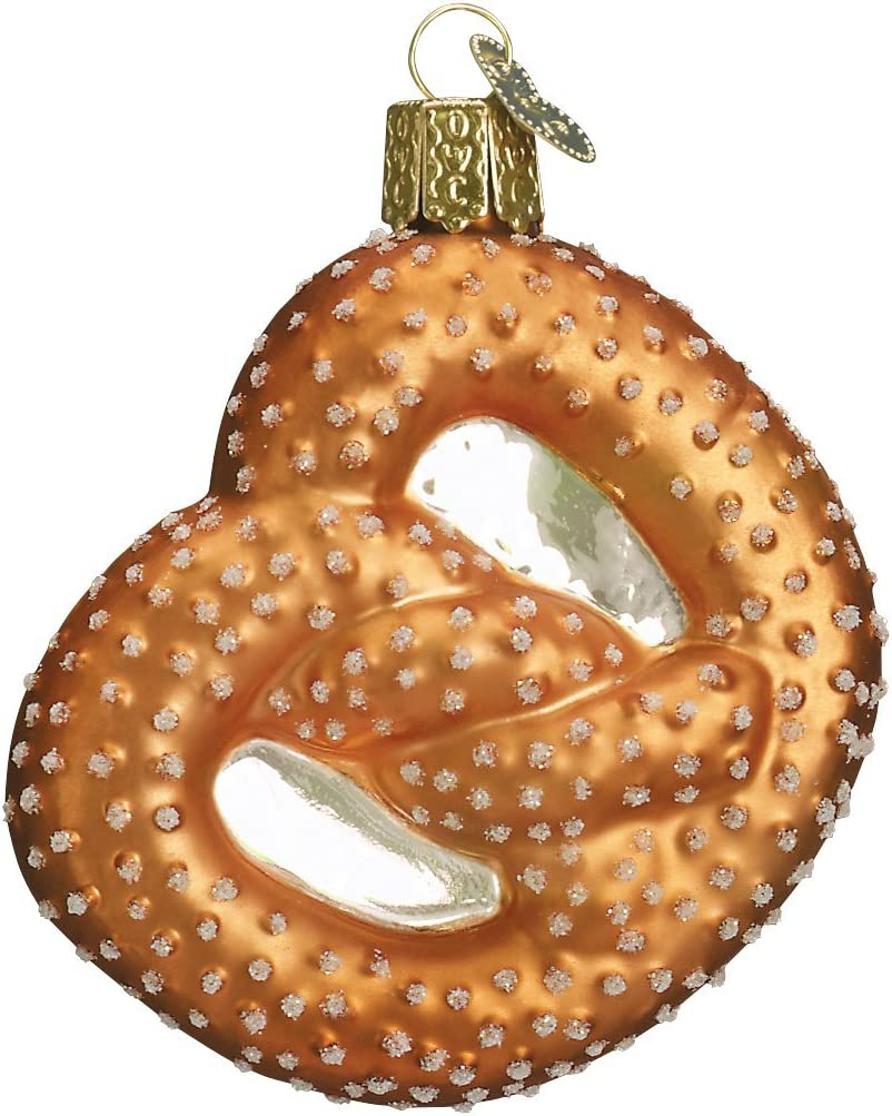 Old World Christmas Pretzel Ballpark Foods Glass Blown Ornaments for Christmas Tree