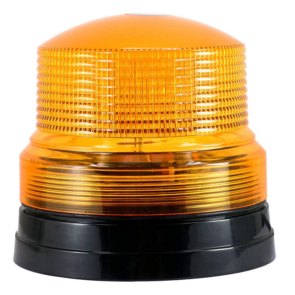 Sonmer 12V Car Warning Light Emergency Light, Amber Flashing Strobe Beacon,With Strong Magnet Base,For Police, Fire Engine, Ambulance, Street Sprinkler, Truck,Engineering Vehicle