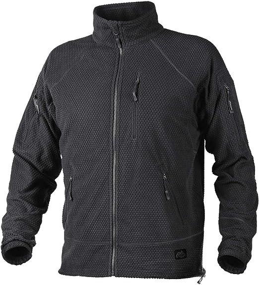 Helikon Men's Alpha Tactical Jacket Grid Fleece Black