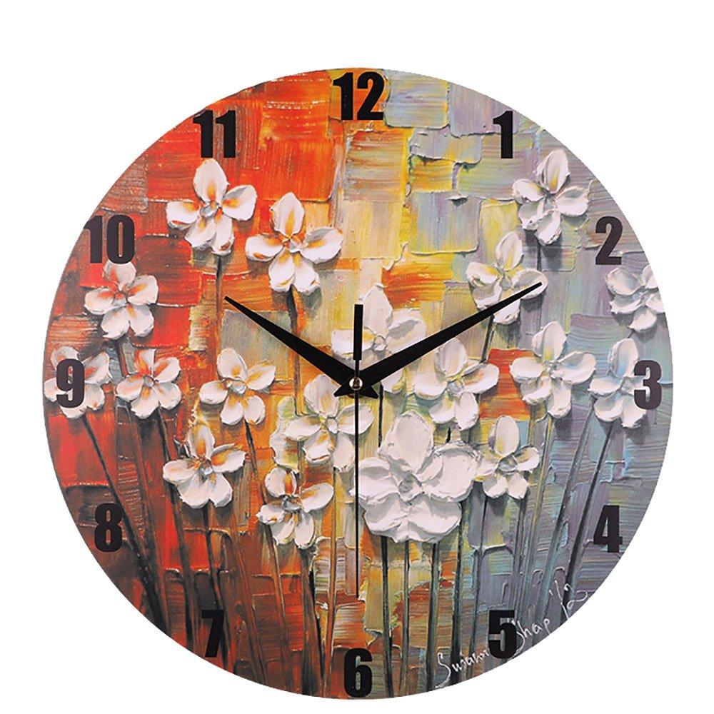DDLBiz Silent Non-Ticking Digital Wall Clocks for Kitchen Study Office Room Decorations (K)
